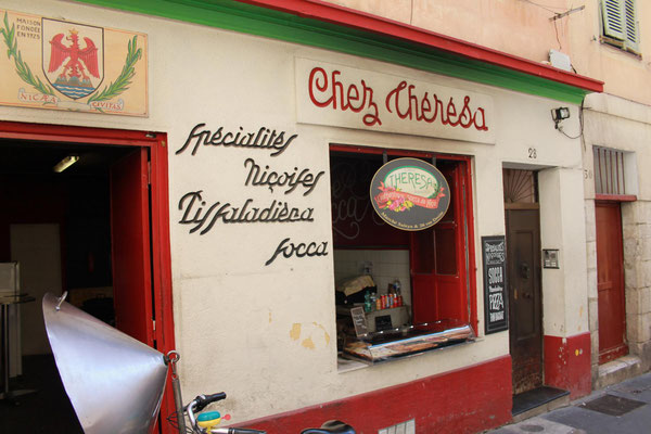 Socca Verkaufsstand in Nizza