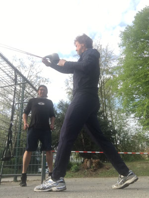 Workout im Park