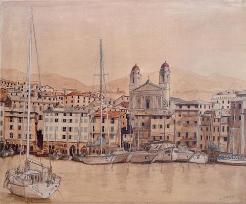 Bastia - le Vieux Port et l'église St Jean Baptiste