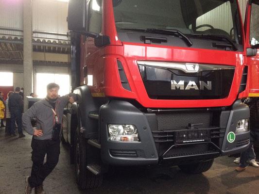 コンラッド社製のタワーヤーダ・プロセッサ搭載トラック