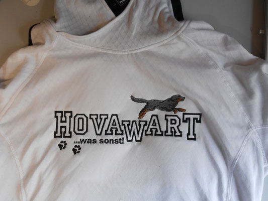 Dessin-Nr. 07594 Hovawart quer -SM - Größe ca. 27,5 x 11,5 cm