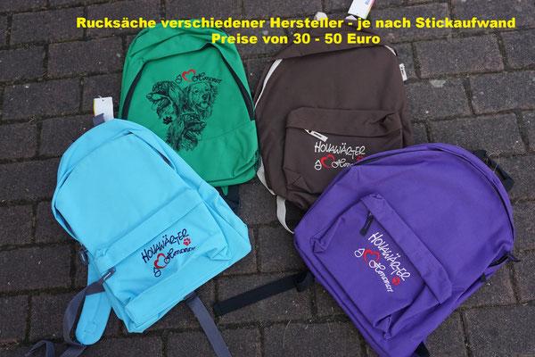 Rucksack je nach Modell zwischen 20 und 30 Euro