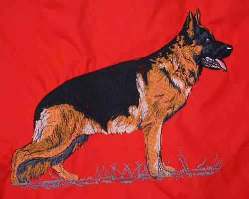 05815 Shäferhund farbig 26,5 x 19,5cm