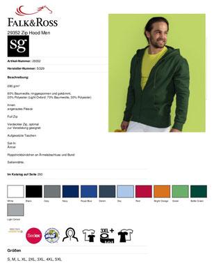 Zip-Hooded - Jacke  SG 29 Herren