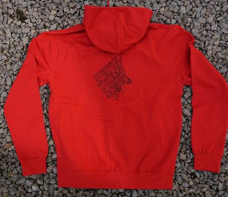 2- Zip-Hooded-Jacke SG 29 - 42 Euro - Motiv vorne 02774a und hinten 02765