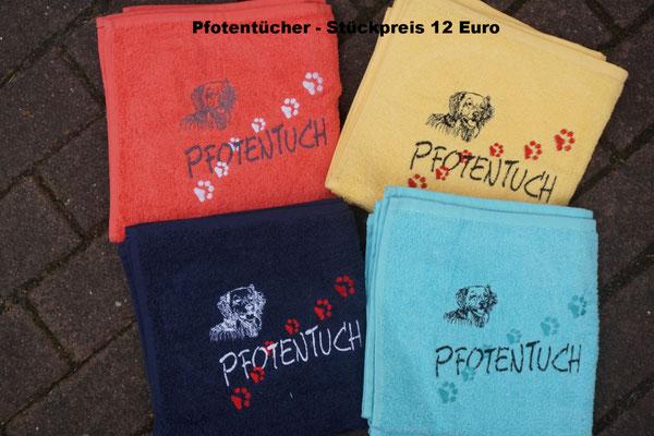 2- Hovi-Pfotentücher 50 x 100 cm              12 Euro