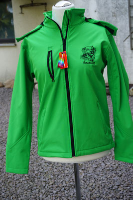9- Softshell Hooded R230-Result Core 65 Euro 2fach bestickt
