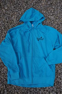 FoL - Lightweight Hooded Sweat Jacke  S-2XL Azure Blue    42 Euro - vorne u. hinten bestickt