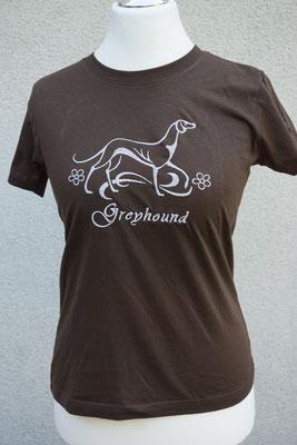 Motiv: 07278 Greyhound-Whippet Schmuck +(180 x 180mm) silbergrau