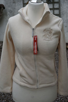 R085F Damenfleecejacke (mit wasserlöslicher Stickfolie)  45 Euro