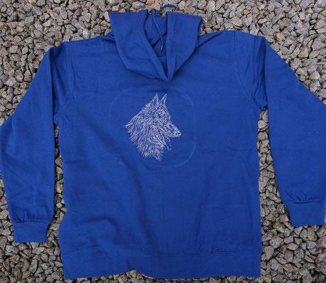 4- Zip-Hooded-Jacke SG 29 - 42 Euro - Motiv vorne 02774a und hinten 02765 hell