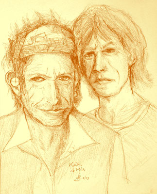 Mick und Keith (Rötel)