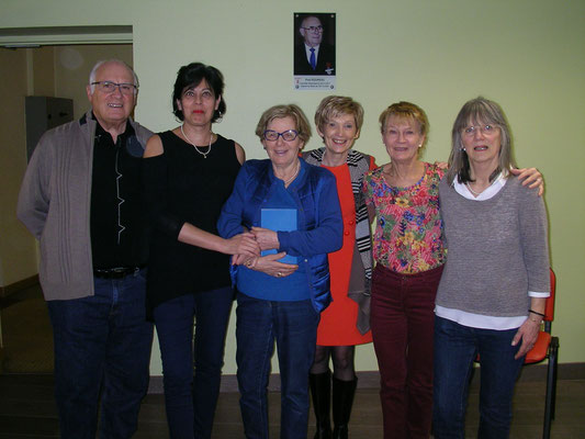 Philippe Thibault, Martine Belfort, Josette Bétaillole, Catherine Hennequin-Bar, Michèle et Suzanne Martel