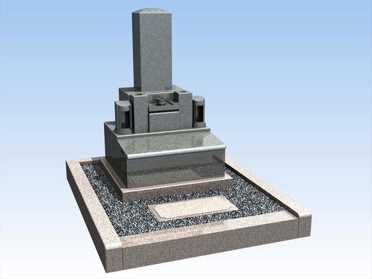 外枠・墓石セット(K)  平均価格 770,000円(税込み)