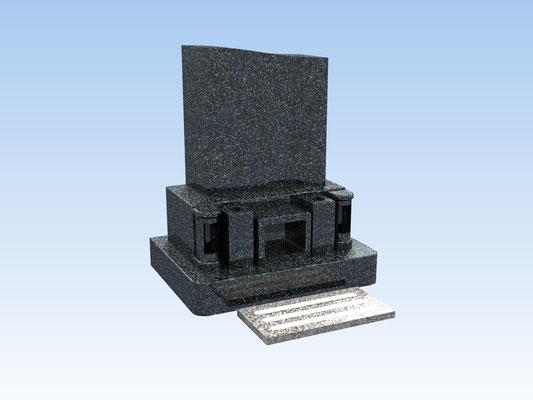 洋型墓石セット・タイプC(踏み石付) 価格 572,000円(税込み)