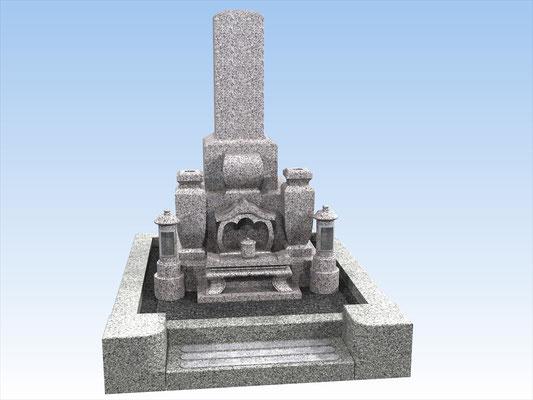 外枠・墓石セットC 面積2.7平米  平均価格 972.000円(税込み)