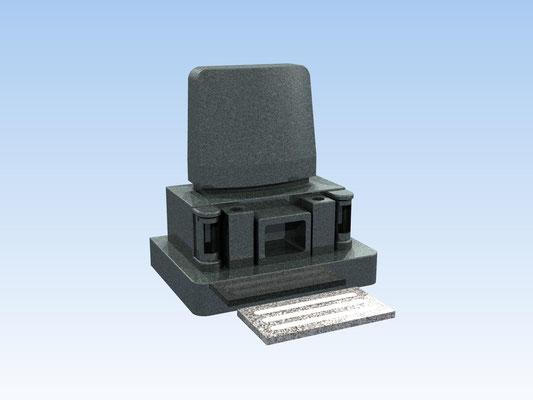 洋型墓石セット・タイプB(踏み石付) 価格 528,000円(税込み)