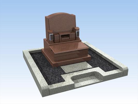 外枠・墓石セットH 面積3.2平方メートル 平均価格 986,700円(税込み)