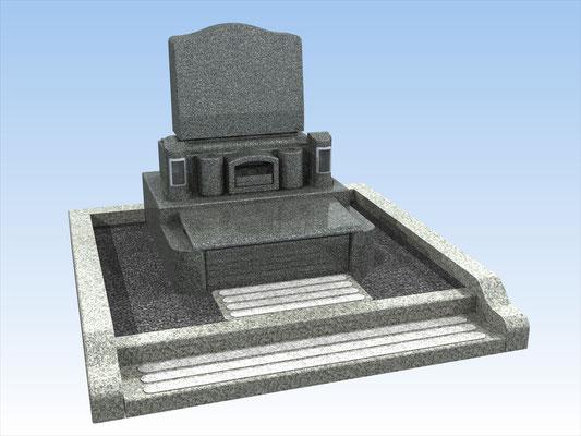 外枠・墓石セットB 面積3平方メートル 平均価格 961.200円(税込み)