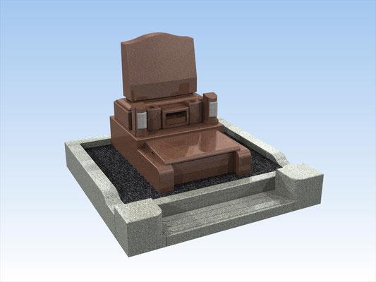 外枠・墓石セットI 面積3.2平方メートル 平均価格 1.080.000円(税込み)