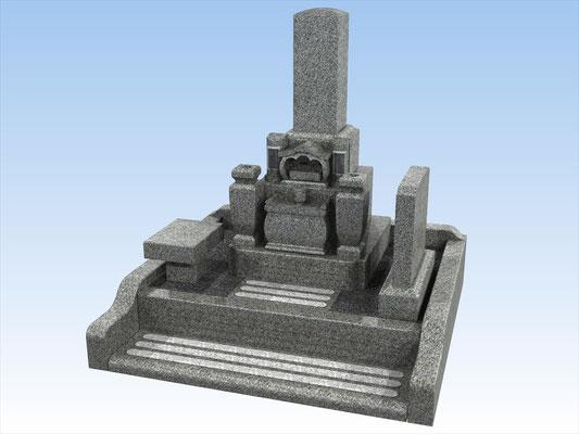 外枠・墓石セットE 面積3平方メートル 平均価格 1.080.000円(税込み)