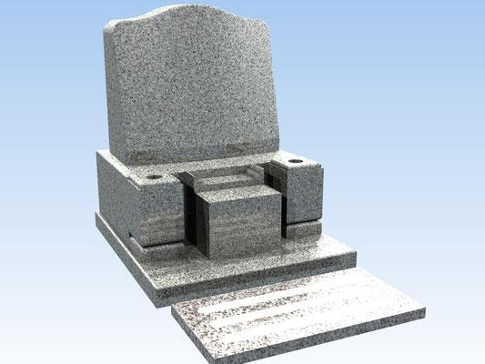 洋型墓石セット・タイプA(踏み石付) 価格 407,000円(税込み)