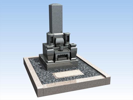 外枠・墓石セット(L)  平均価格 788.400円(税込み)