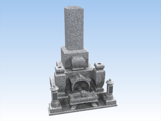 和墓E 10寸型芝台式前飾り型  平均価格 1,001,000円(税込み)