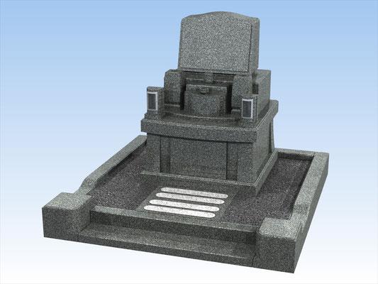 外枠・墓石セットD 面積3平方メートル  平均価格 1.112.400円(税込み)