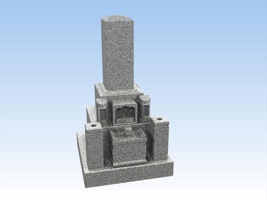 和型墓石セット・タイプW-1(9寸角) 価格 770,000円(税込み)
