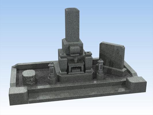 外枠・墓石セットG 面積4平方メートル 平均価格 1.252.800円(税込み)