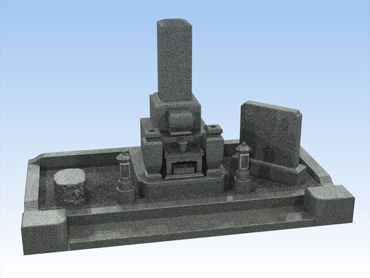 外枠・墓石セットG 面積4平方メートル 平均価格 1,276,000円(税込み)