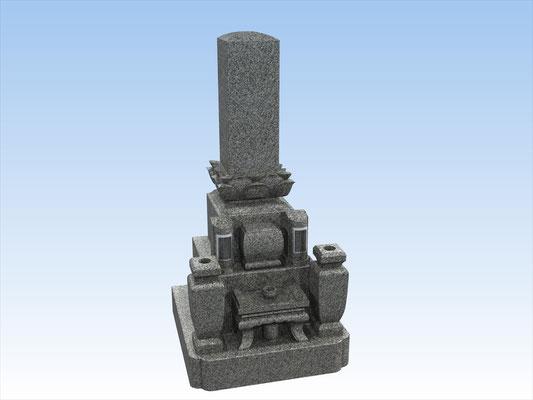 和型墓石セット・タイプW-4(9寸角上蓮華) 価格 1,045,000円(税込み)