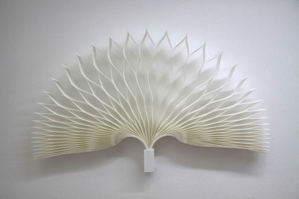 PAPIER-art ART-papier, Kunstobjekt aus Papier, Wandobjekt, Unikat, Papierschichten, Harald Metzler, Mattsee, Austria