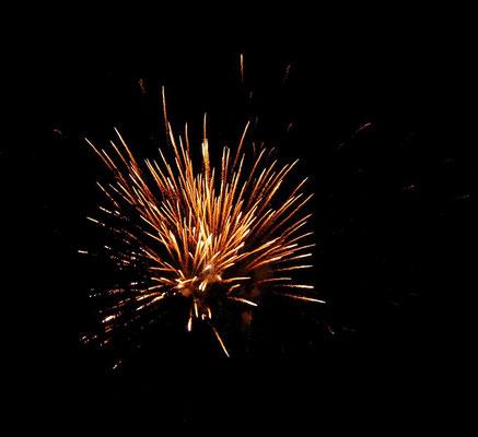 Ein Feuerwerk begeistert alle Besucher.