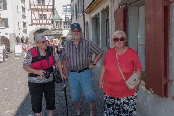 Familie Daval machte noch einen Besuch in Stein am Rhein.