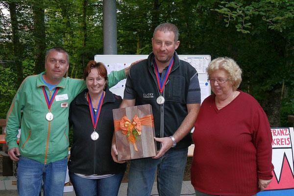 Der zweite Platz ging an die Schweizer Gruppe 'Strandbar Villnachern' mit  Marcel Leupi, Jeanette u. Thomas Stuckelberger