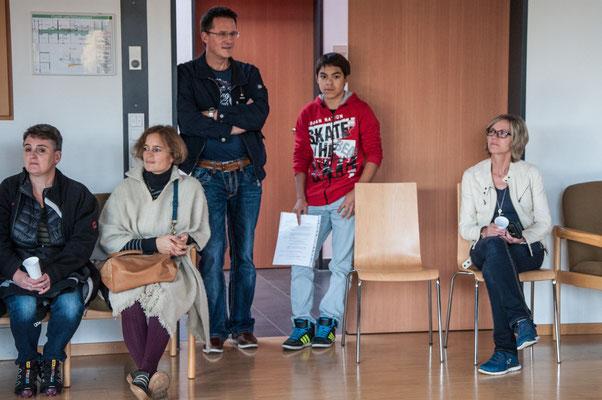 Empfang mit Bürgermneister Thomas Schäuble im Schulhaus.