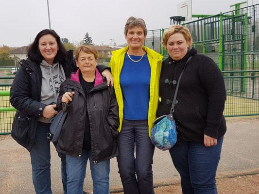 Die Betreuerinnen: Annette Schmidt, Arlette, Inge Rüd, Vanessa Lopez