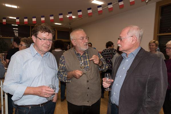 Franz Spitz, Bernd Regener und Herbert Schnäbele im Gespräch