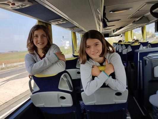 Im Bus auf dem Weg nach Lyon
