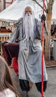 Auch den weisen Gandalf konnte man begrüßen.