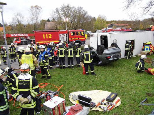 Französische Feuerwehrleute im 'Einsatz'