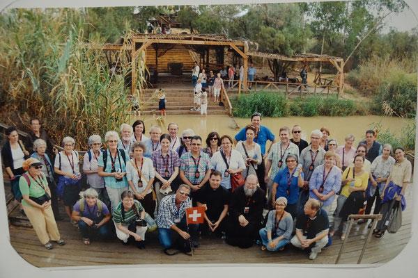 Pilgergruppenfoto beim Jordan