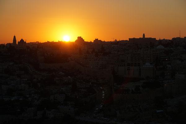 Sonnenuntergang Jerusalem