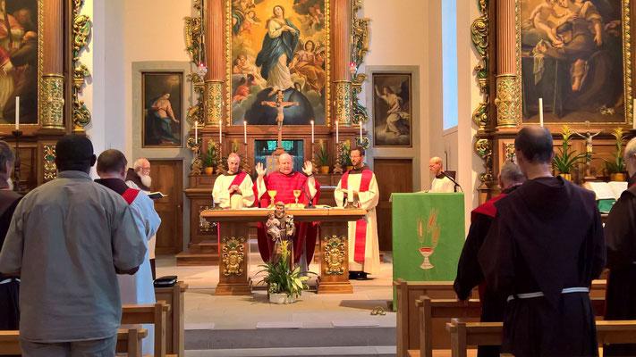 hl.Messe in der Franziskanerkirche Näfels