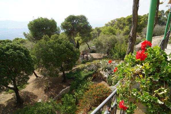 Die Landschaft auf dem Berg Tabor