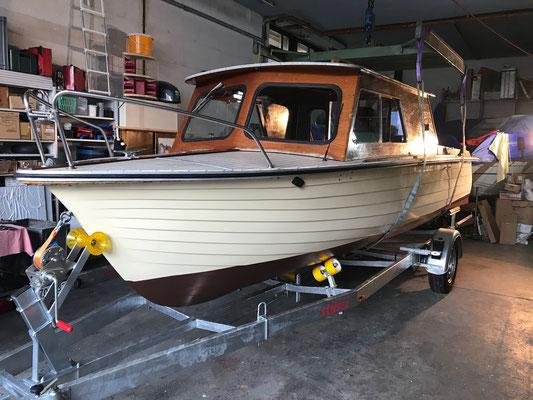 Das Boot ist bereit für den Transport