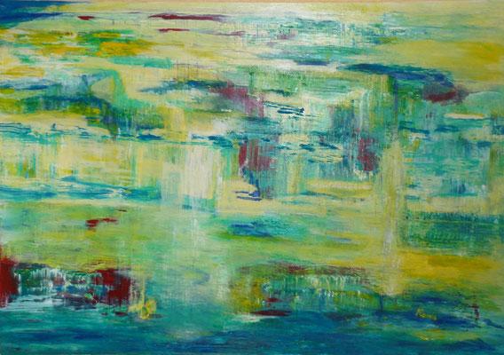 Nr. 204 Wasserlandschaft, Acryl auf Leinwand, 100x70 cm, 190 €