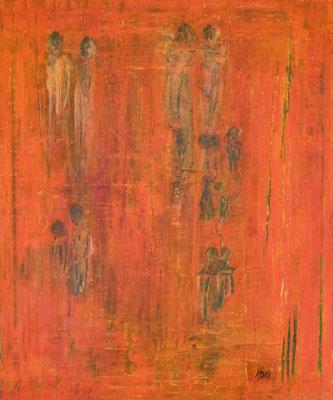 Nr. 283 Promenade, Acryl auf Leinwand, 60 x 50 cm, 85 €